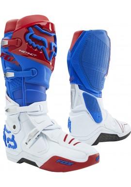 2021 Fox Instinct Boot Blue Red