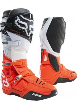2021 Fox Instinct Boot Black White Orange