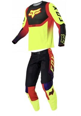 2021 Fox 360 voke flo yellow combo kit