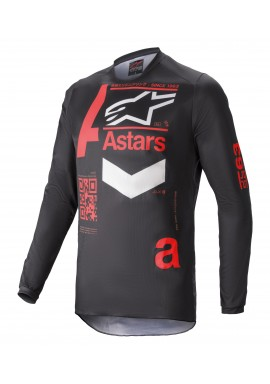 2021 Alpinestars fluid chaser black/red Motocross Kit