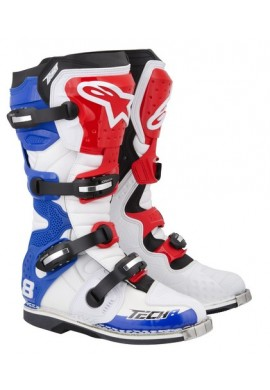 Alpinestars Tech 8 RS Boots White Red Blue