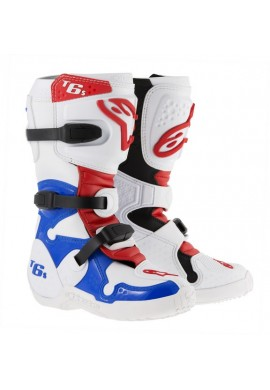 Alpinestars Tech 6S Youth Boots White Blue Red