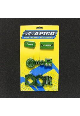 Apico Kawasaki KX250F 11-16 Factory Bling Pack - Green