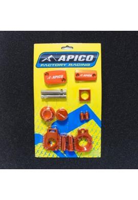 Apico Husqvarna TE125 14-16 Factory Bling Pack - Orange
