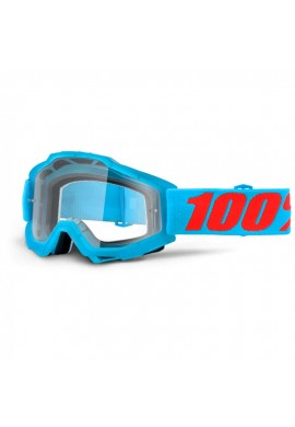 2016 100% Accuri MX Motocross Goggles - Acidulous Cyan