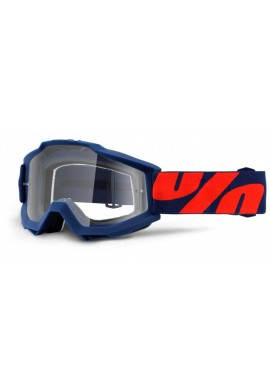 2016 100% Accuri MX Motocross Goggles - Raleigh - Clear Lens