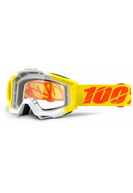 2016 100% Accuri MX Motocross Goggles - Zest - Clear Lens