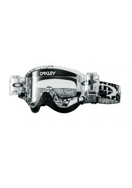 2016 Oakley O Frame Race Ready Goggles - Tagline Black Clear Lens