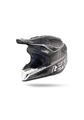 2016 Leatt GPX 6.5 V1 Carbon Helmet - Black White