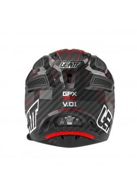 2016 Leatt GPX 6.5 V1 Carbon Helmet - Black Red