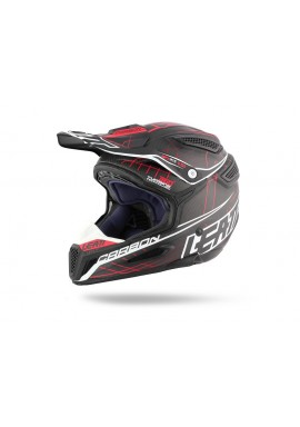 2016 Leatt GPX 6.5 V1 Carbon Helmet - Black Red