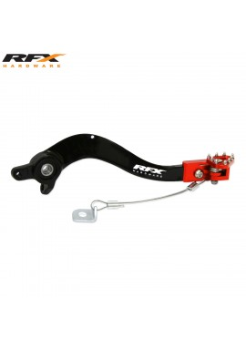 RFX Pro FT Rear Brake Lever (Black/Orange) KTM SX/SX-F EXC/EXC-F All Models 125-525 07-15