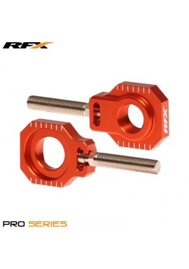 RFX Pro 2 Rear Axle Adjuster Blocks (Orange) KTM 125-525 13-16