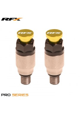RFX Pro Fork Air Bleeder2 M5x0.8 (Stainless/Yellow) Kayaba/Showa
