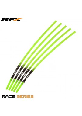 RFX Race Vent Tube - Long Pipe Inc 1 Way Valve (Green) 5 pcs