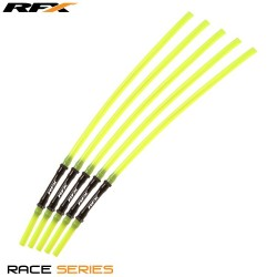 RFX Race Vent Tube - Long Pipe Inc 1 Way Valve (Yellow) 5 pcs