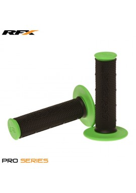 RFX Pro Series Dual Compound Grips Black Centre (Black/Green) Pair