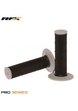 RFX Pro Series Dual Compound Grips Black Centre (Black/Grey) Pair