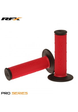 RFX Pro Series Dual Compound Grips Black Ends (Red/Black) Pair