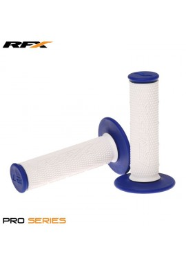 RFX Pro Series Dual Compound Grips White Centre (White/Blue) Pair