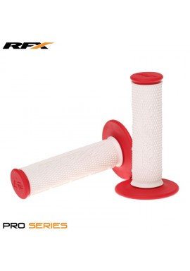 RFX Pro Series Dual Compound Grips White Centre (White/Red) Pair