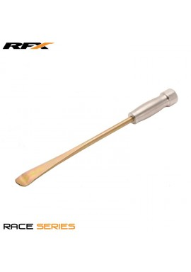 RFX Race Single Spoon end Tyre Lever (Gold) Mousse Type with Silver Handle 420mm / 17in Long