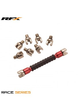 RFX Race Spoke Key (Red) Interchangeable Multi Tip Type Sizes 5.4mm-7.0mm
