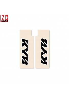 N-Style Upper Fork Decals KYB Black
