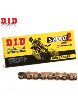 DID Chain 520 x 120 DZ Racing Gold & Black Chain
