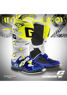 2016 Gaerne Limited Edition SG12 Motocross Boots - Blue White Yellow