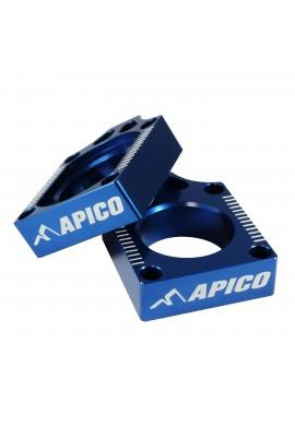 Apico Kawasaki / Suzuki Axle Blocks KX03-08, KXF250/450 04-15, RMZ250/450 04-15 - Blue