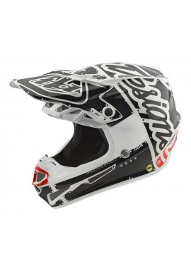 2018 Troy Lee Designs SE4 Polacrylite Factory White Motocross Helmet
