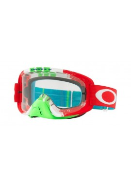 2018 Oakley O Frame Goggle 2.0 Pinned Race Red/Green- Clear Lens