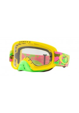 2018 Oakley O Frame 2.0 Thermo Camo Pink/Yellow/Green- Clear Lens