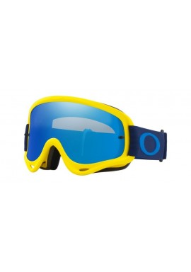 2018 Oakley O Frame Goggle Flo Yellow/Navy- Black Ice Iridium & Clear Lens