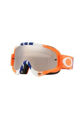 2018 Oakley O Frame Goggle Pinned Race Orange/Blue- Black Iridium & Clear Lens