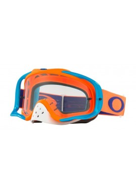2018 Oakley Crowbar Goggle Flo Orange/Blue- Clear Lens
