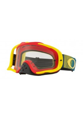 2018 Oakley Crowbar Goggle Shockwave Red/Yellow/Blue- Clear Lens