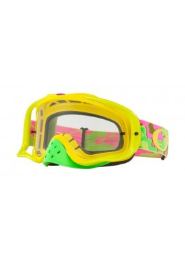 2018 Oakley Crowbar Goggle Thermo Camo Pink/Yellow/Green- Clear Lens