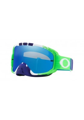 2018 Oakley O Frame Goggle 2.0 Pinned Race Green/Blue- Black Ice Iridium & Clear Lens
