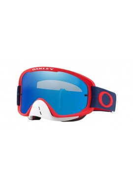 2018 Oakley O Frame Goggle 2.0 Red/Navy- Black Ice Iridium & Clear Lens