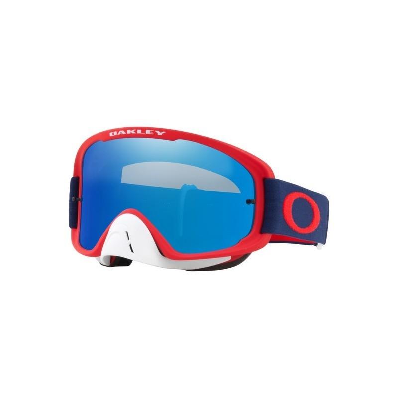2018 Oakley O Frame Goggle 2.0 Red/Navy- Black Ice Iridium & Clear Lens
