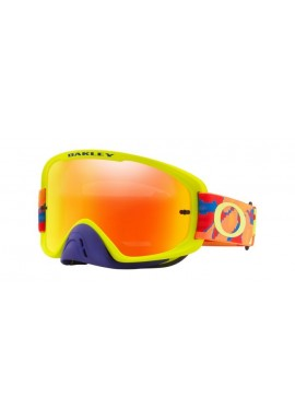 2018 Oakley O Frame Goggle 2.0 Thermo Camo Blue/Orange/Green- Fire Iridium & Clear Lens