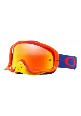 2018 Oakley Crowbar Goggle Flo Blue/Red- Fire Iridium & Clear Lens