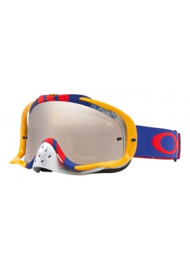 2018 Oakley Crowbar Goggle Pinned Race Red/Blue- Black Iridium & Clear Lens