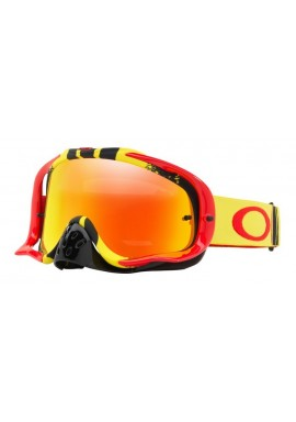 2018 Oakley Crowbar Goggle Pinned Race Red/Yellow- Fire Iridium & Clear Lens
