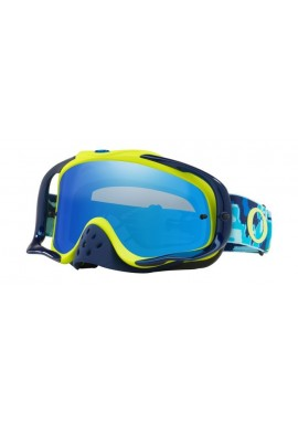 2018 Oakley Crowbar Goggle Thermo Camo Blue/Yellow- Black Iridium & Clear Lens