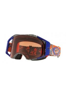 2018 Oakley Airbrake Goggle Dazzle Dyno Orange/Blue- Prizm Bronze Lens