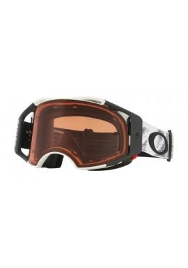 2018 Oakley Airbrake Goggle Matte White Speed- Prizm Bronze Lens