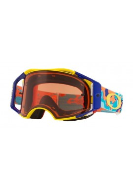 2018 Oakley Airbrake Goggle Thermo Camo Orange/Blue- Prizm Bronze Lens